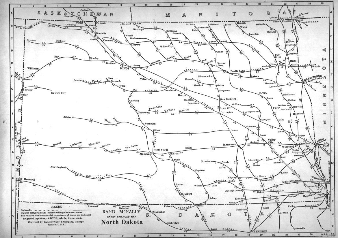 Hawk Badger Railroad Railroad Maps North America - Map of south and north dakota
