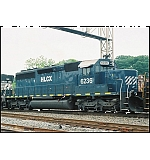 An HLCX leasor on an NS train.