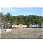 CSX Q675 is about to split the signals somewhere between Adairsville and Kingston.