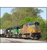NS 22Z starts the flood of 4 trains S/B.