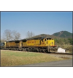 CSX Q547-23 moves Southward through the mountains of North Central Georgia.