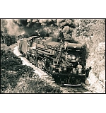 Fond memories. T&P 610 rounds the curve near Cook Springs, Ala. with SOU 722 in tow.