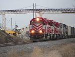 Wisconsin Southern's HJ (Horicon - Janesville) train rolls south towards Duplainville on March 19th, 2011