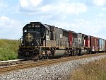 An IC standard cab SD70 holds it's train on the Duplainville siding. August 16th, 2011