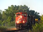 A CN northbound heads out of Waukesha towards Duplainville. August 18th, 2011