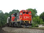 A southbound CN rolls into Ackerville, WI. September 5th, 2011