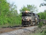 NS power rounds a corner at Duplainville. May 20th, 2011