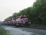 WSOR's HJ rolls south on the CN in Waukesha, WI with plenty of power. May 21st, 2011