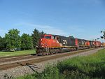 A CN northbound moves up the siding to make a set out at Duplainville. June 26th, 2011
