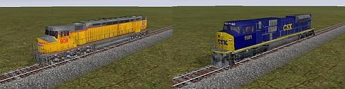 Union Pacific DD40AX and CSX SD90MAC