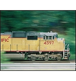 Zipping past FC tower during the Austell Railfest, '04.