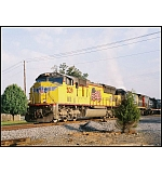 A relatively new Western visitor moves a CSX manifest merrily along it's way.