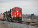 A CN Potash train moves south at Duplainville. April 8th, 2011