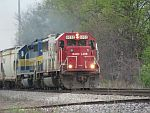 A 'Hockey Stick' leads a train east at Duplainville. May 21st, 2011