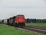 A CN southbound ambles through the countryside. Duplainville. June 25th, 2011